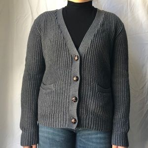 Target Elbow Patch Grey Cardigan